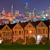 The Alamo Square At Night - San Francisco, California