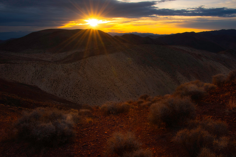 As The Sun Crests The Peaks - Death Valley National Park, Eastern Sierras, California