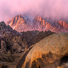 Alpenglow On Mount Whitney - Alabama Hills, Eastern Sierras, California