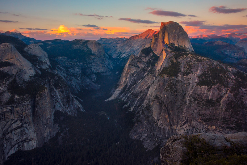A Wide View Of Glacier Point - Yosemite National Park, Sierra Nevadas, California