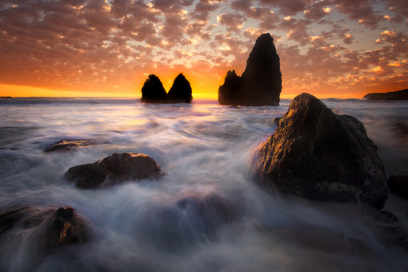 Sunset Fire - Rodeo Beach, Marin Headlands, San Francisco