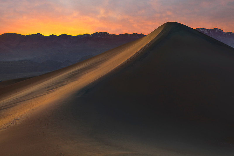 Last Of The Days Light - Mesquite Dunes, Death Valley National Park, California