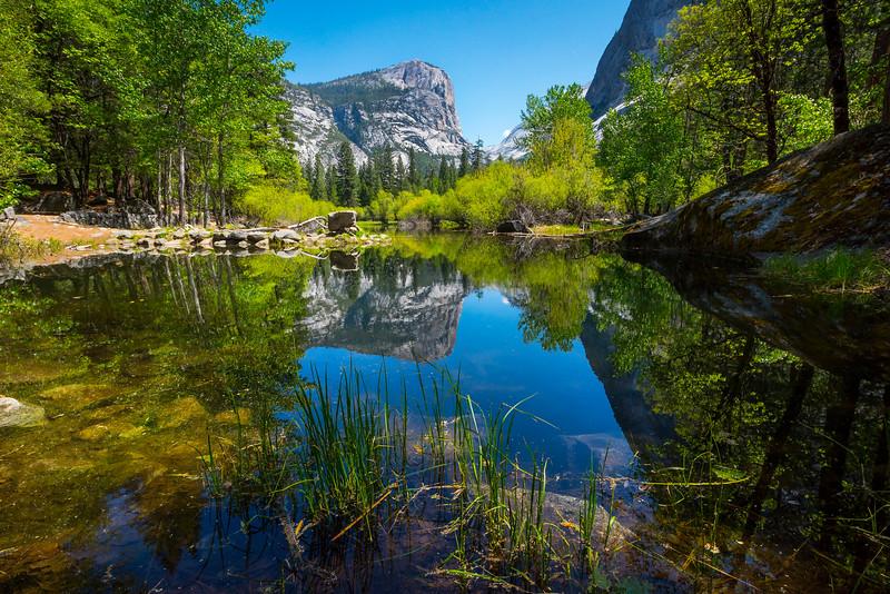 Mirror Lake From The Shoreline - Yosemite National Park, Sierra Nevadas, California
