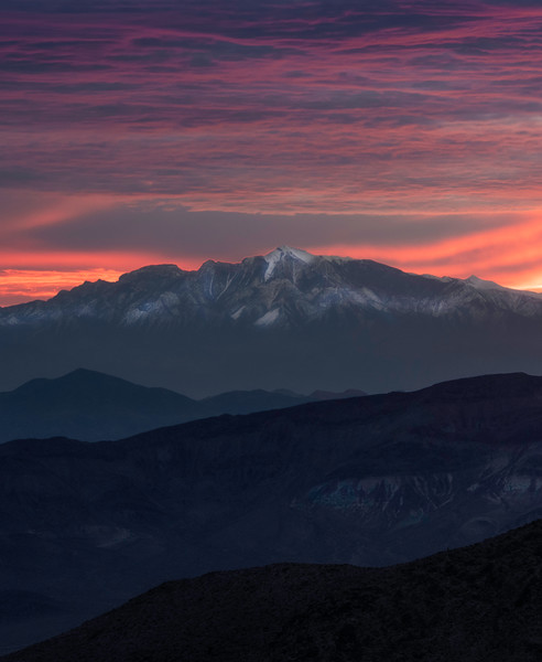 Sunrise Glory From Dantes View - Death Valley National Park, Eastern Sierras, California