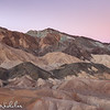 Death Valley Moonset in the Badlands