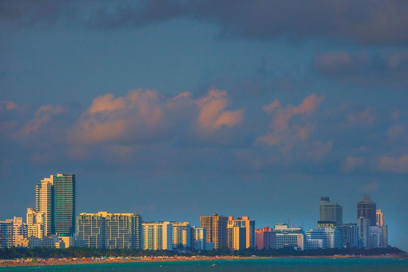 South Beach And Its High Rises -  Miami Pier, Florida