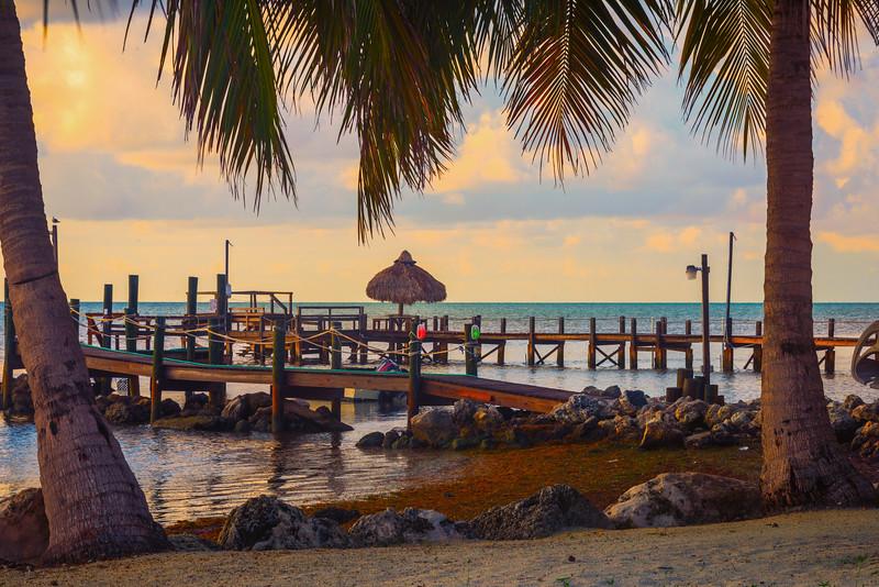 Morning Warm Light Decorates Beach - Marathon, Florida Keys, Florida