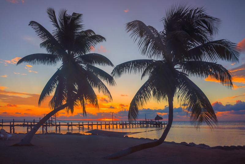 Silhouette Framing Of Pier In Florida Keys - Marathon, Florida Keys, Florida