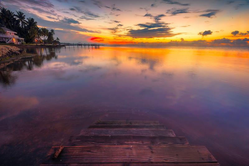 Stairs Into The Ocean - Marathon, Florida Keys, Florida