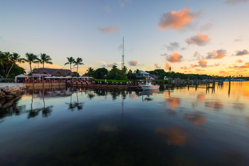 Reflections Of The Marina At Sunset -  Key Largo, Florida Keys, Florida