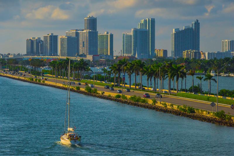 Sailing Into Miami Port -  Miami Pier, Florida