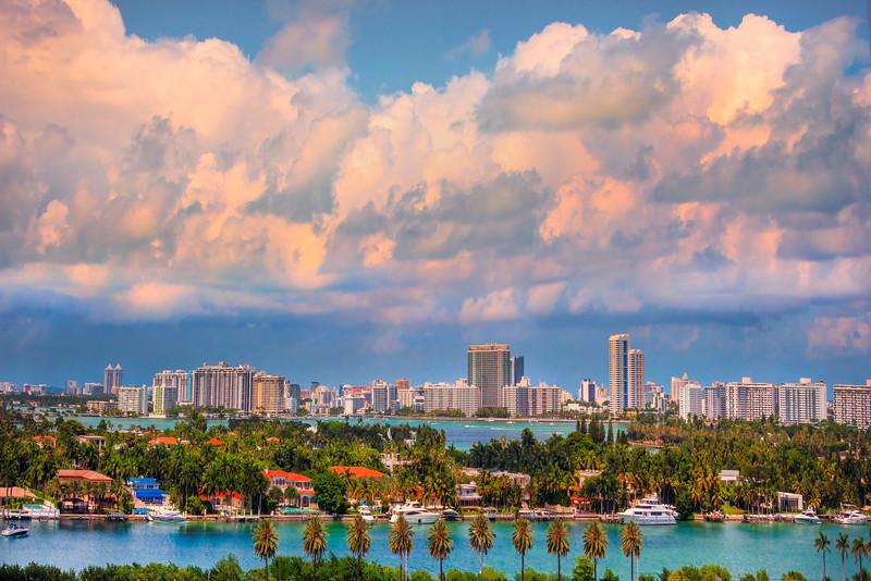 Miami Morning With Turbulent Weather - Downtown Miami, Florida