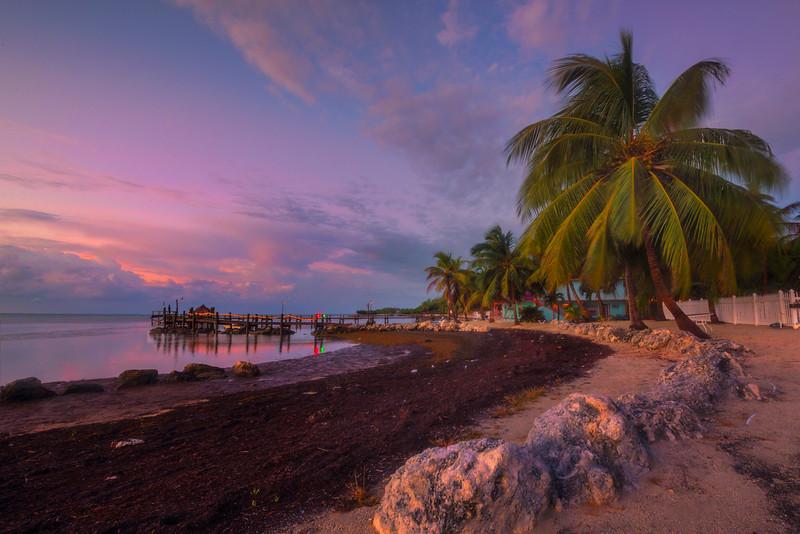 Twilight Pinks Over The White Sands - Marathon, Florida Keys, Florida