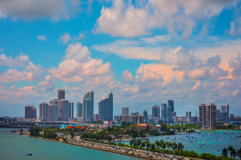 All Roads Into Miami Sunrise - Downtown Miami, Florida