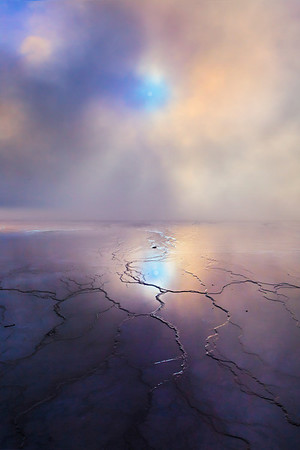 Mystery Hour In Yellowstone - Grand Prismatic Springs, Yellowstone National Park, Wyoming