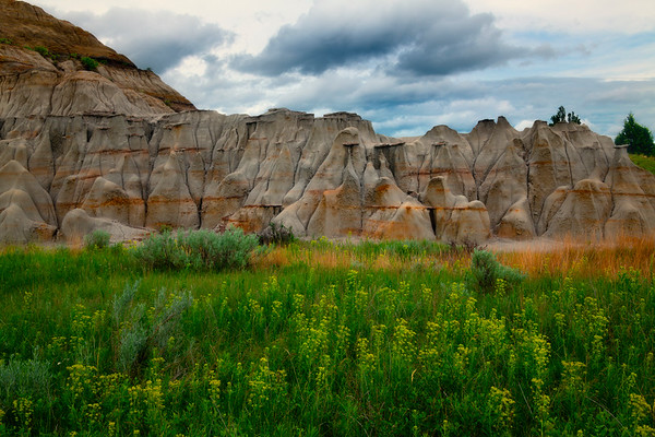 Spring Greens And Hoodoos - Theodore Roosevelt National Park, North Dakota