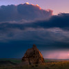 One Lonely Rock At Sunset - Medicine Rocks State Park, Eastern Montana