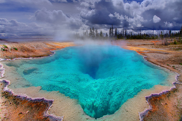 The Deep Blue Hole - Morning Glory Pool, Yellowstone National Park, Wyoming