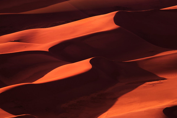 Light And Shadow Symmetry Patterns In Nature - Colorado Sand Dunes Monument