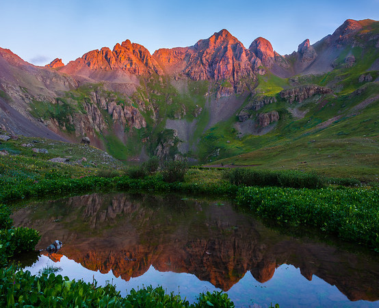 Tarn Reflections In The Rockies - San Juan Mountains, Colorado