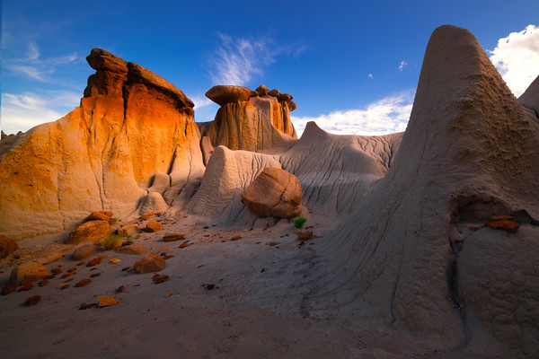 Side Light Bouncing Off The Hoodoos - Makoshika State Park, Glendive, Eastern Montana