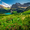 A Mix Of Colors Above Grinnell Lake - Grinnell Glacier Trail, Glacier National Park, Montana