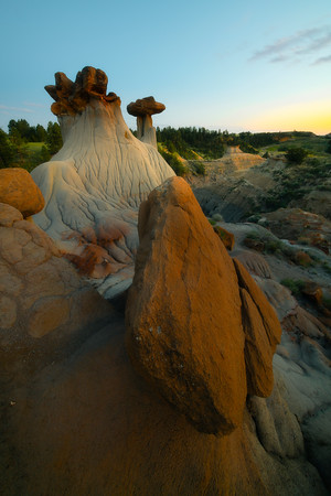 The Touch Of Warmth At Ends Day - Makoshika State Park, Glendive, Eastern Montana