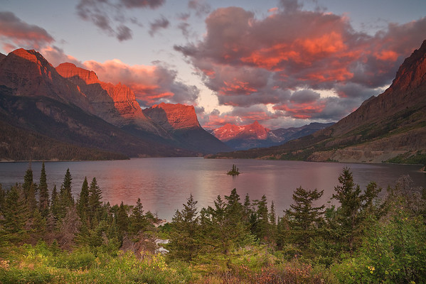 The Iconic View Of The Rockies - Saint Mary's Lake, Glacier National Park, Montana
