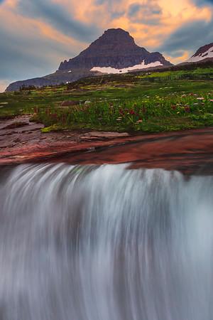 Top Of The Falls - Glacier National Park, Montana