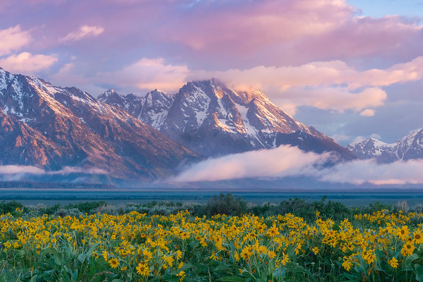 The Tetons Breaking Through - Grand Teton National Park in Wyoming St.