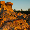 Late Light On The Twin Hoodoos - Makoshika State Park, Glendive, Eastern Montana
