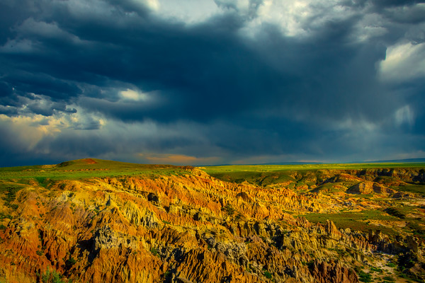 Storm Clouds Rolling Over The Caverns - Casper, Wyoming