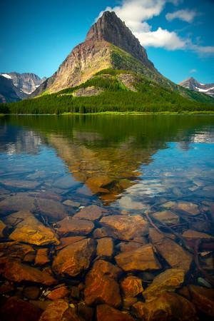 Glacier From Underneath - Swiftcurrent Lake, Many Glacier, Glacier National Park, Montana