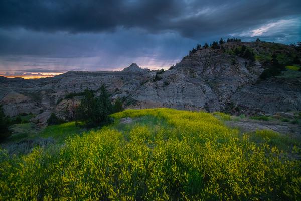 Rain Showers In The Distance - Makoshika State Park, Glendive, Eastern Montana