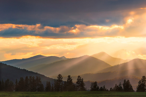 The Power Of Light Lies In The Mountains - Greenough, Montana