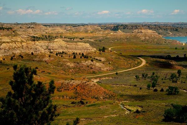Looking Over Badland Canyon - Hell Creek State Park, Jordan, Montana