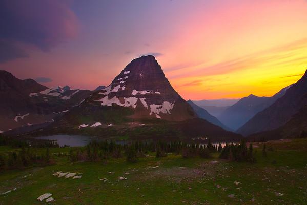 Fire In The Sky Above Hidden Lake - Glacier National Park, Montana