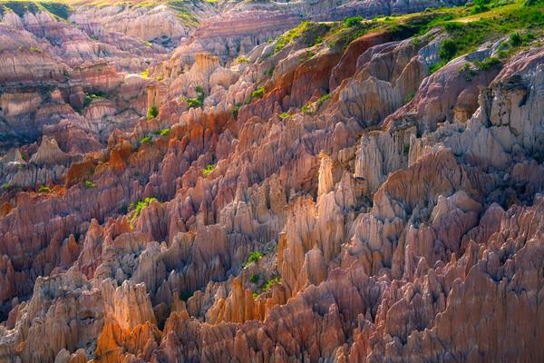 Razor Sharp Hoodoos From Above - Casper, Wyoming