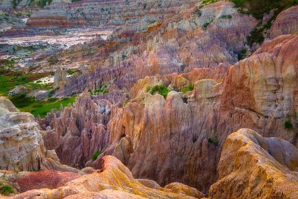 Looking Down Into The Color Well - Casper, Wyoming