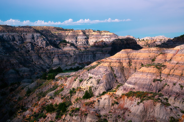 Scattered Light In The Canyons - Makoshika State Park, Glendive, Eastern Montana