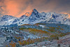 Alpenglow Winter Peaks - Dallas Divide, Colorado
