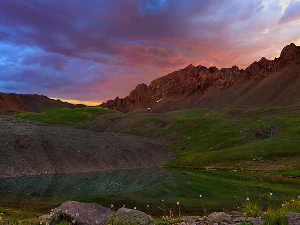 First Signs Of Light - Yankee Boy Basin, Ouray, Colorado