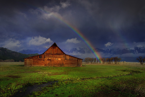 Moulton Barn Rainbows Along Mormon Row - Grand Teton National Park, Wyoming
