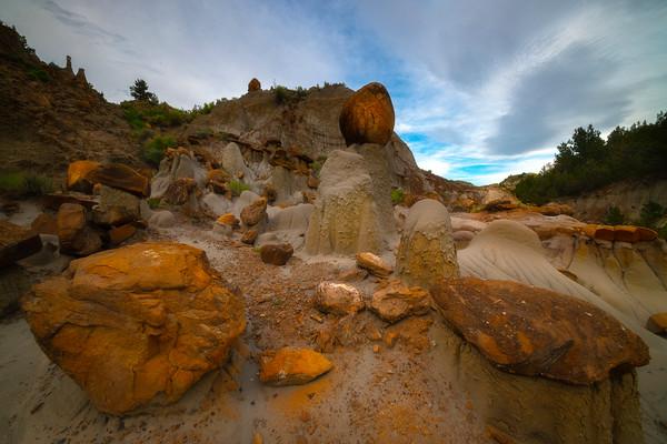 Rocks Upon Rocks Leading Up - Makoshika State Park, Glendive, Eastern Montana