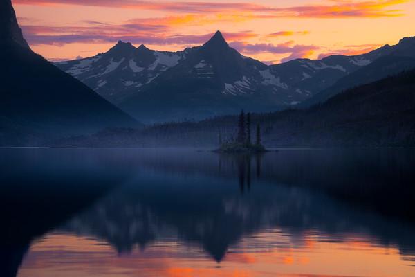 Wild Goose Island In Full Glory - Wild Goose Island Lookout, Saint Mary's Lake, Glacier National Park, Montana