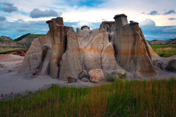 A Hoodoo Island In Oasis - Theodore Roosevelt National Park, North Dakota