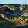 Casting Of Light On Hills - Hell Creek State Park, Jordan, Montana