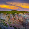 Unique Color Clouds Forming Above The Canyon Casper, Wyoming