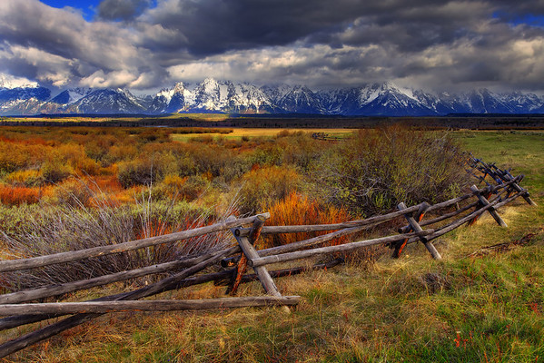 A Change In Seasons In The Grand Tetons - Grand Teton National Park, Wyoming