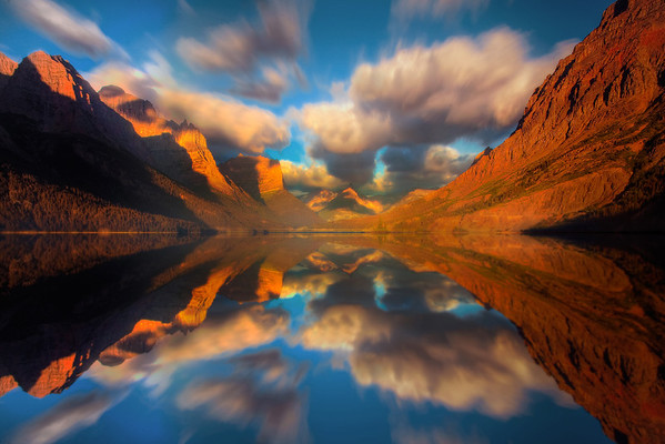 Mirror Visions - Saint Mary's Lake, Glacier National Park, Montana